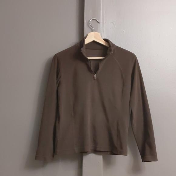 Columbia brown fleece sweatshirt